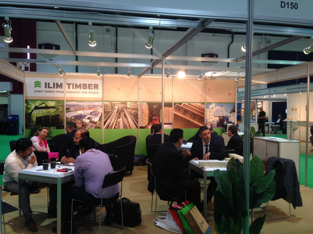 Ilim Timber at the largest wood industry show in Dubai